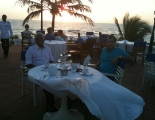 Sunset dinner with Nihal Welikala in Coombo