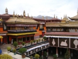 The temple in Llasa in Tibet