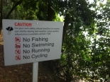 First sign board an illegal immigrant will see if he swims up Singapore's shoreline